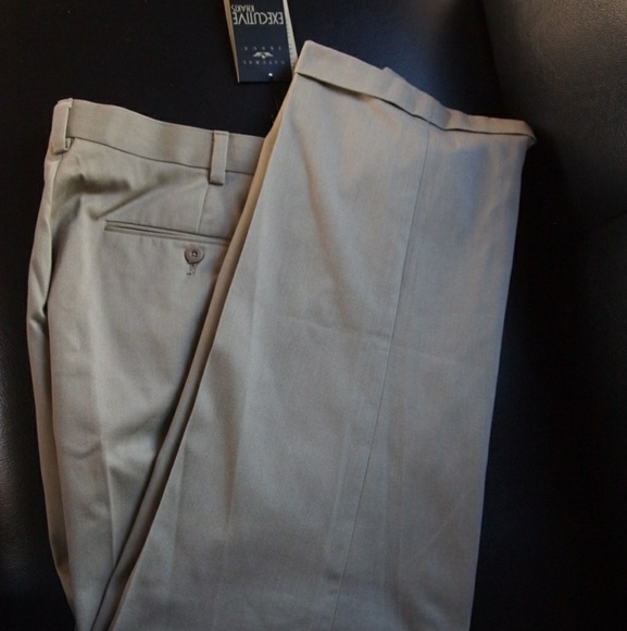 67b8b7e7dd1337 Natural Issue Pants | Khakis Pleated Cuffed Mens Trousers | Poshmark